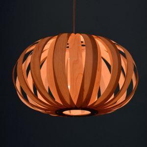 ペンダントライト 和風照明 カボチャ型照明 天井照明 照明器具 天然突き板製 1灯