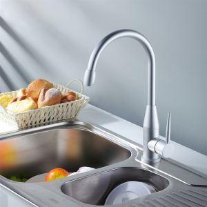 キッチン蛇口 台所蛇口 冷熱混合水栓 アルミ製