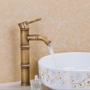 キッチン蛇口 台所蛇口 冷熱混合水栓 真鍮 筍の形 ブロンズ色(高さ)