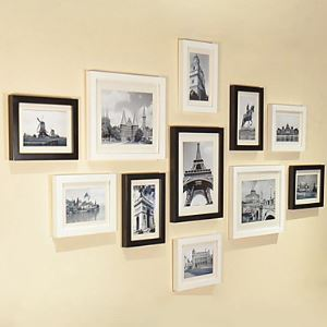 壁掛けフォトフレーム 写真用額縁 フォトデコレーション PM-11BC 11個セット 複数枚