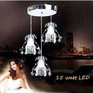 LEDペンダントライト LEDクリスタル照明 天井照明 子供屋照明 3灯