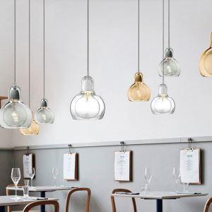ペンダントライト ガラス製照明 天井照明 インテリア照明 1灯 3色