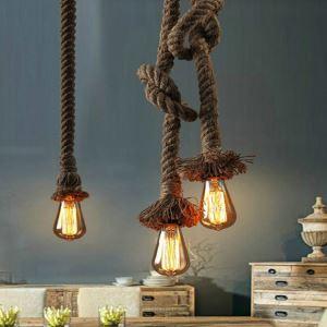 ペンダントライト ロープ照明 天井照明 ビンテージ 1灯/2灯