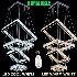 LEDペンダントライト LED天井照明 クリスタル照明 リビング照明器具 四環