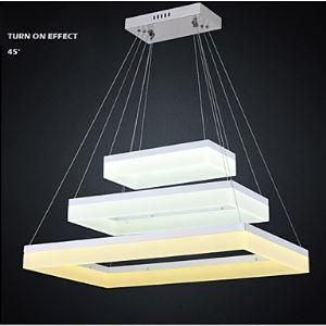 LEDペンダントライト LED天井照明 アクリル照明 リビング照明器具 三段