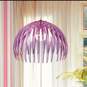 ペンダントライト 天井照明 カボチャ型照明器具 創意照明 紫色 1灯