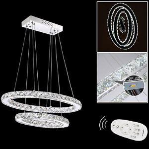 LEDペンダントライト LEDクリスタル照明 天井照明 照明器具 二環