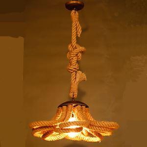 ペンダントライト ロフト/工業照明 ロープ照明 天井照明 ビンテージ 1灯/2灯