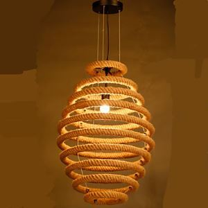 ペンダントライト ロフト/工業照明 ロープ照明 天井照明 カントリー 1灯