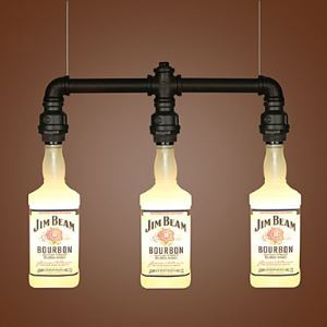 ペンダントライト ロフト/工業照明 天井照明 ボトル型 3灯
