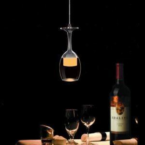 LEDペンダントライト ワイングラス照明 天井照明 玄関照明 1灯