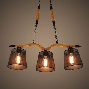 ペンダントライト ロフト/工業照明 北欧照明 照明器具 ロープ照明 3灯