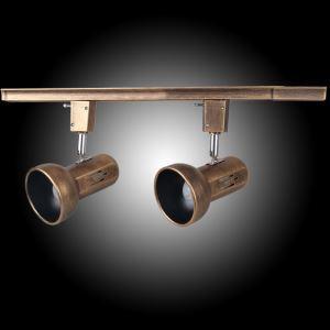 スポットライト シーリングライト 玄関照明 店舗照明 レトロな照明器具 レール付き 2連 2灯 FMS138