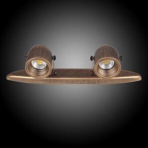 スポットライト シーリングライト レトロな照明器具 玄関照明 2連 2灯