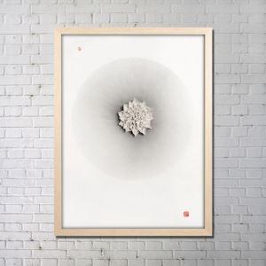 実物絵画 インテリア画 アート実物 セラミック フレームなし B 36*48inch FAREAL2402