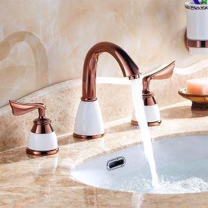 洗面蛇口 バス蛇口 浴室水栓 2ハンドル混合栓