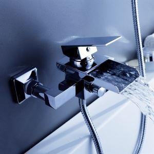 浴槽水栓 壁付水栓 真鍮 滝状吐水口