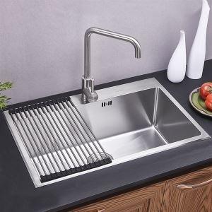 キッチン用流し台(蛇口なし) 台所の流し台 手作りシンク #304ステンレス製流し台 HM7046