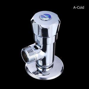 止水栓 単水栓用 お湯/水 クロム