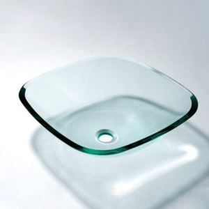 洗面ボウル 洗面器 手洗器 手洗い鉢 洗面台 洗面ボール 排水金具付 正方形 透明 VT5019