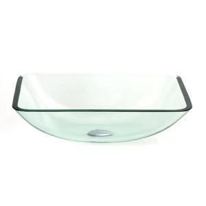 透明洗面ボウル 洗面器 手洗器 手洗い鉢 洗面台 洗面ボール 排水金具付 長方形 VT5020