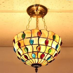 ティファニーライト ペンダントライト ステンドグラス照明器具 3灯 D30/40cm
