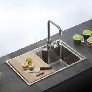 キッチンシンク(蛇口なし) 台所の流し台 オーバーシンク #304ステンレス製流し台 S6845M 27in
