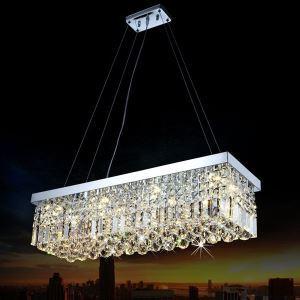 ペンダントライト K9クリスタル照明 天井照明 姫系照明器具 8灯-80*25cm