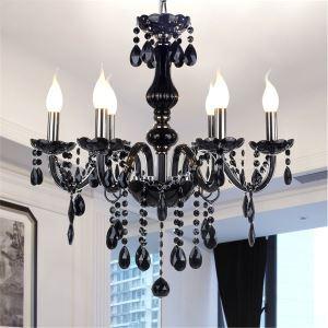 シャンデリア ブラッククリスタル照明 照明器具 インテリア照明 姫系 6灯