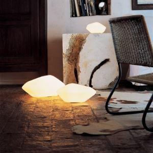 テーブルランプ テーブルライト 卓上照明 石型 吹きガラス製 1灯