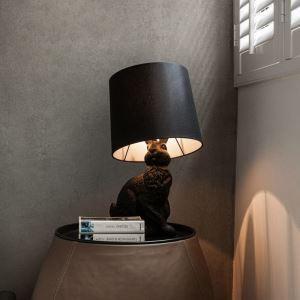 テーブルランプ 卓上照明 テーブルライト ウサギ型 黒色 1灯