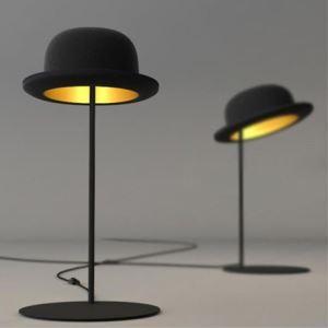 テーブルライト 卓上照明 テーブルランプ スタンド照明 帽子型 黒色 1灯