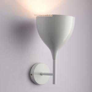 壁掛けライト ウォールランプ 照明器具 ブラケット カップ型 白色 1灯