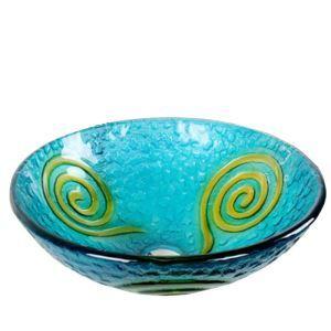 彩色上絵洗面ボウル 洗面台 洗面器 手洗器 手洗い鉢 排水金具付 地中海風 HAM029