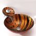 彩色上絵洗面ボウル&蛇口セット 洗面台 洗面器 手洗器 手洗い鉢 排水金具付 HAM147