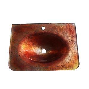 彩色上絵手洗器 手洗い鉢 洗面ボウル 洗面台 洗面器 排水金具付 HAM100