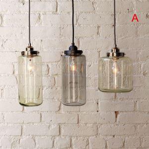 ペンダントライト 照明器具 食卓照明 リビング照明 店舗照明 北欧風 ガラス製 3灯 2色