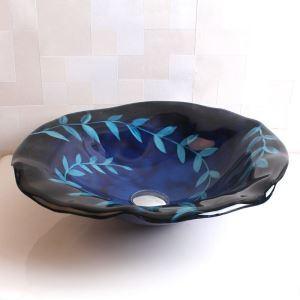 洗面ボウル 手洗い鉢 洗面台 洗面器 手洗器 洗面ボール 排水金具付 オシャレ 蓮葉型 HAM121
