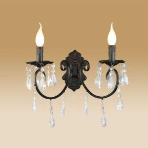 壁掛けライト ウォールランプ ブラケット 照明器具 北欧 レトロ 黒色 2灯 BEH306213