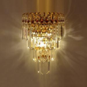壁掛けライト ウォールランプ 照明器具 ブラケット クリスタル 2灯 BEH302008