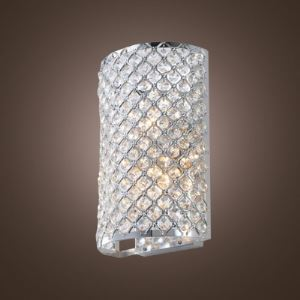 壁掛けライト ブラケット 照明器具 ウォールランプ クリスタル 半円形 3灯 BEH314999