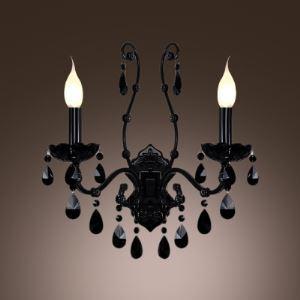 壁掛けライト ブラケット 照明器具 ウォールランプ クリスタル 2灯 BEH315715