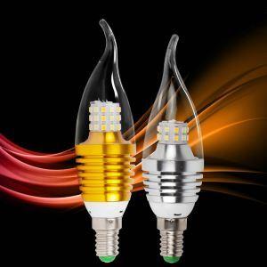 E12 LEDシャンデリア電球 調光電球 電球色・昼光色 AC110-120V