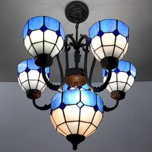 ステンドグラス シャンデリア ティファニーライト 照明器具 7灯 BEH404080