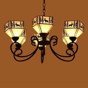 ステンドグラス シャンデリア ティファニーライト 照明器具 6灯 BEH403973