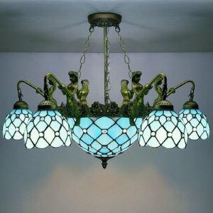 ステンドグラス シャンデリア ティファニーライト 照明器具 8灯 BEH404254