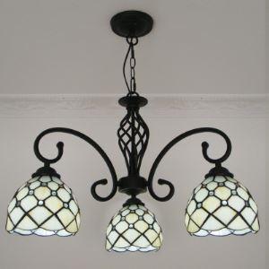ステンドグラス シャンデリア ティファニーライト 照明器具 3灯 BEH404783