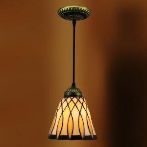 ティファニーライト ペンダントライト ステンドグラスランプ 照明器具 玄関照明 欧米風 1灯 BEH4209