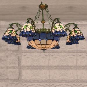 ステンドグラス シャンデリア ティファニーライト 照明器具 9灯 BEH403229