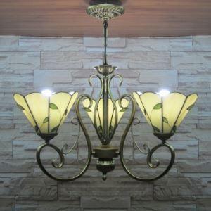 シャンデリア ステンドグラスランプ ティファニーライト 照明器具 リビング照明 吹き抜け照明 3灯 BEH3193